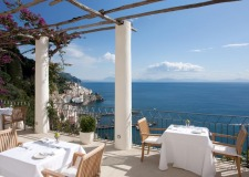 Terrace with seaview in Amalfi Grand Hotel Convento