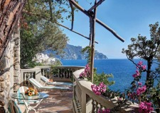 Terrace of Amalfi Hotel Santa Caterina with seaview
