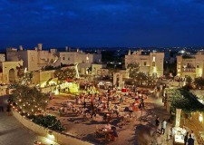 Outdoor wedding reception at Borgo Egnazia in Puglia