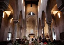 Interior of Ravello church for catholic weddings