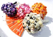 Button bouquets for Sorrento wedding