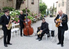 Jazz quartet for wedding party at Borgo San Felice in Tuscany