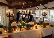Restaurant for wedding receptions at Borgo San Felice in Tuscany