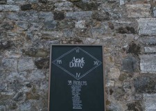 Blackboard table plan for Tuscany wedding