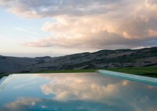 Infinity pool at La Bandita estate near Pienza in Tuscany