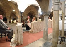 Catholic wedding in St Mark's Crypt in Venice