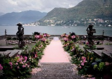 Garden wedding on the shore of Lake Como
