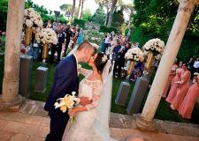 Outdoor protestant wedding in Ravello
