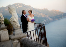 Bridal couple on the Terrace of Infinity