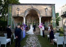 Wedding ceremony at Villa Cimbrone