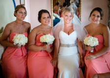 Bride and bridesmaids getting ready for Ravello wedding