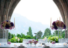 Wedding reception in the crypt of Villa Cimbrone in Ravello