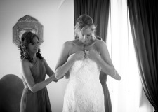 Bride getting ready for the ceremony in Ravello