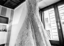 Bridal gown for wedding in Rome