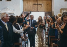 Arrival of the bride in a Tuscan church