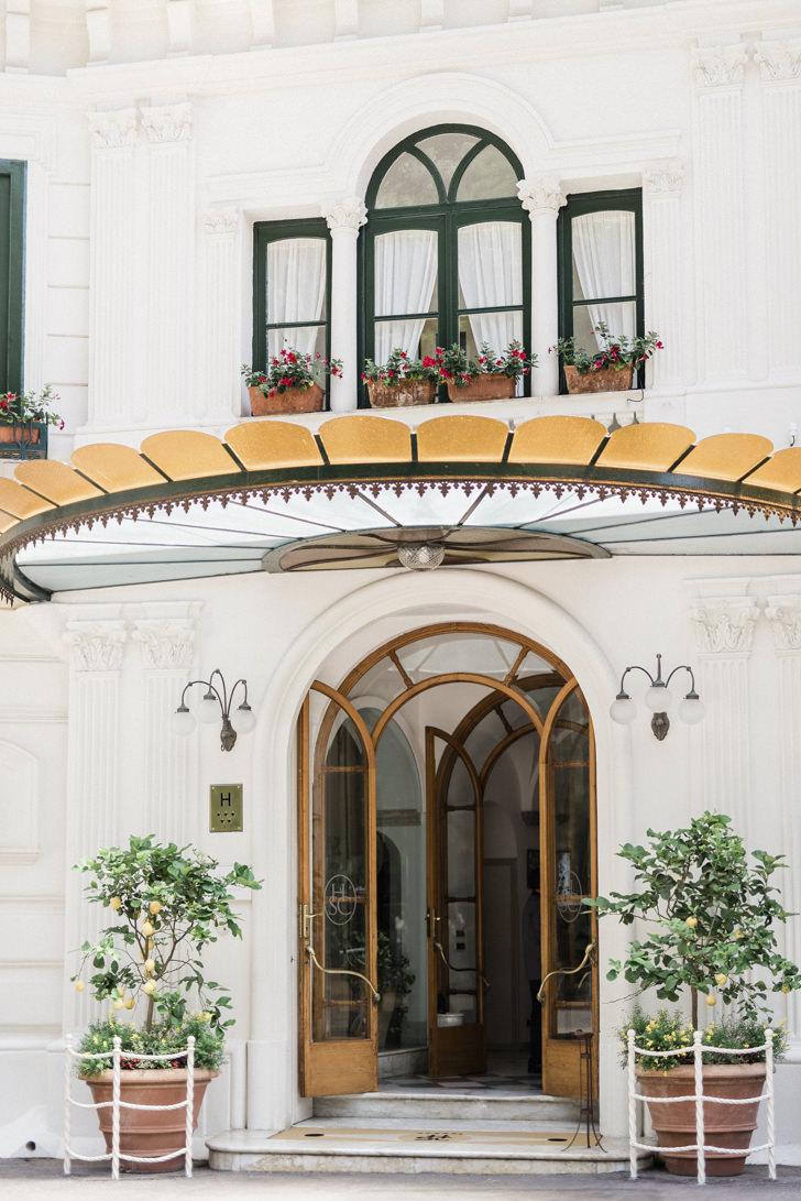 Entrance of Hotel Santa Caterina