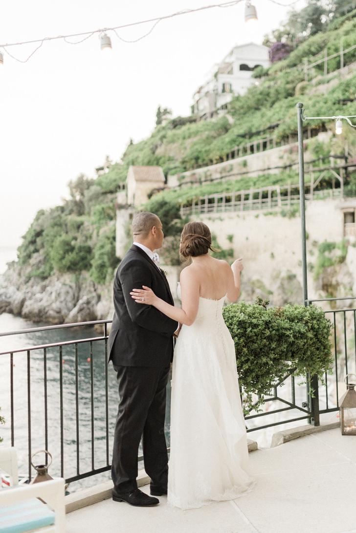 Bridal couple in Amalfi