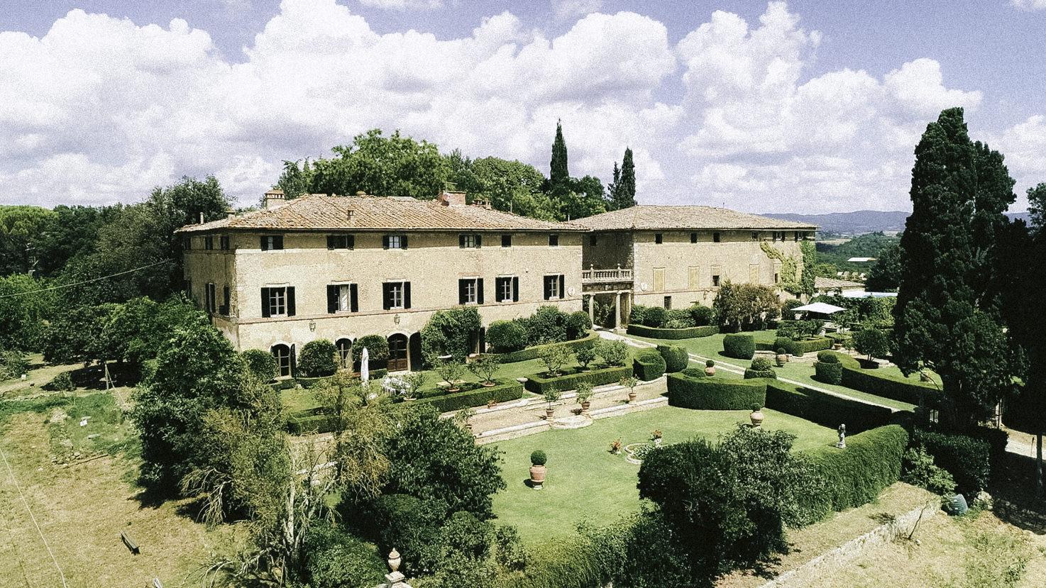 Aerial view of Borgo Stomennano