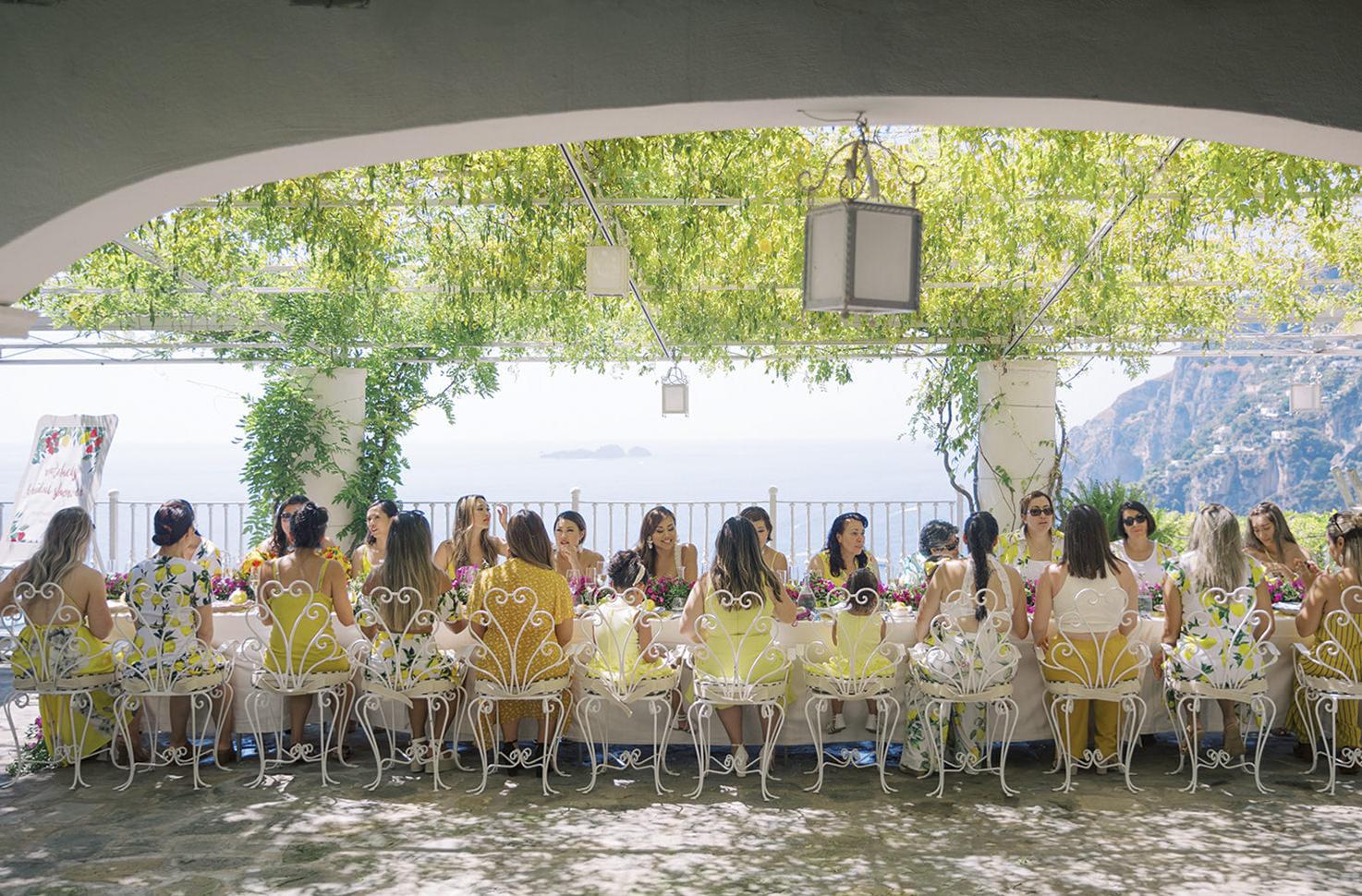 Bridal shower in Positano