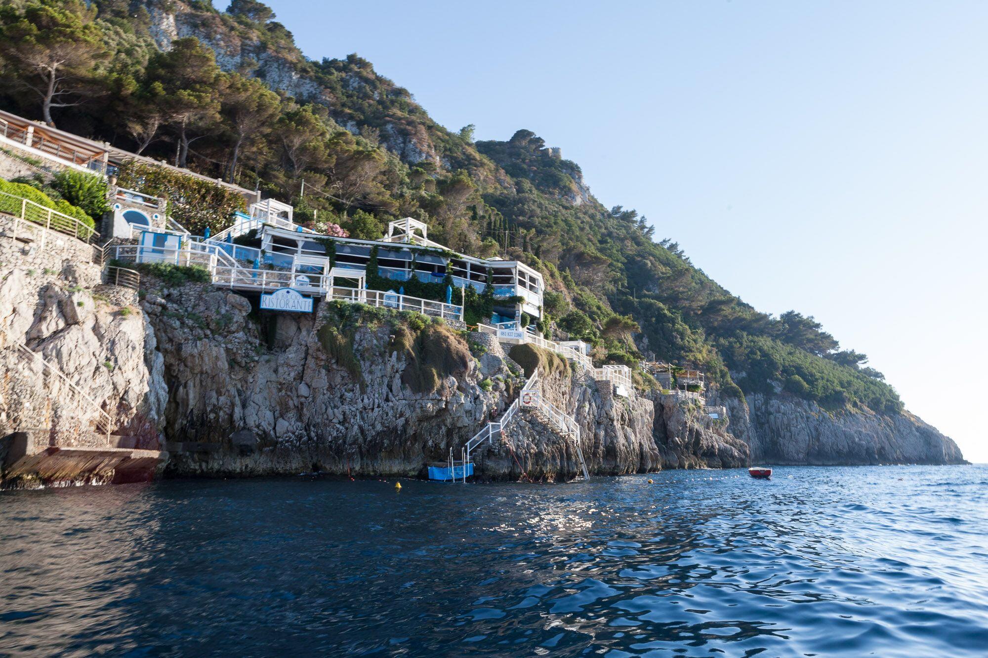 Il Riccio, restaurant on the sea in Capri
