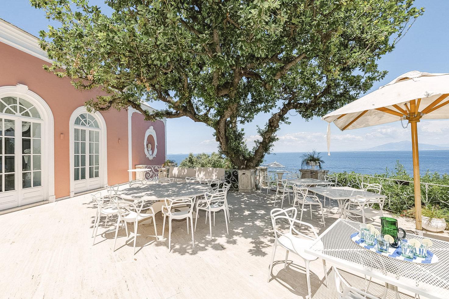 Main terrace of Villa Camelia