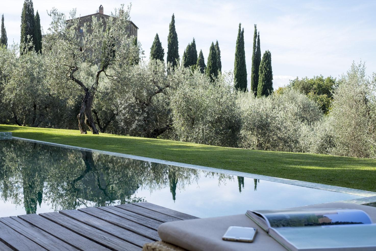 Outdoor pool at Vicarello