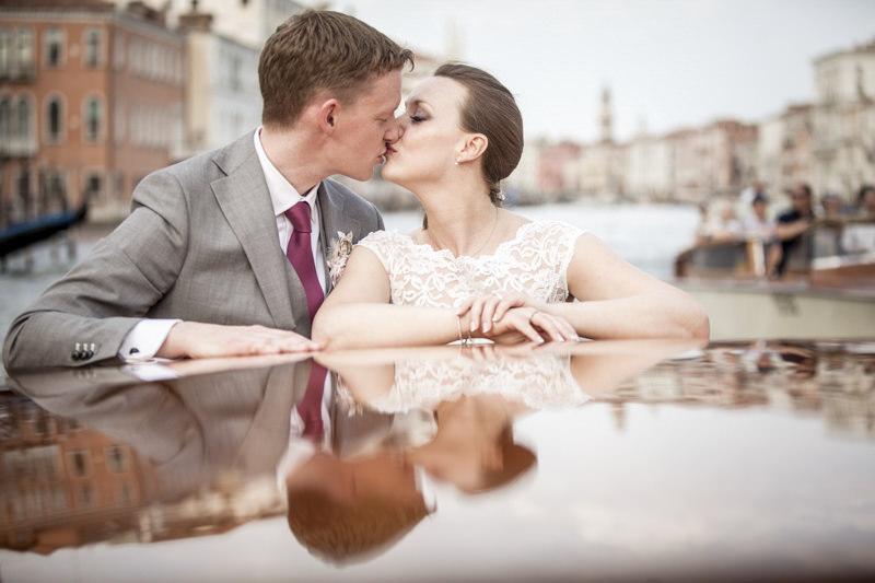 Bridal couple in Venice
