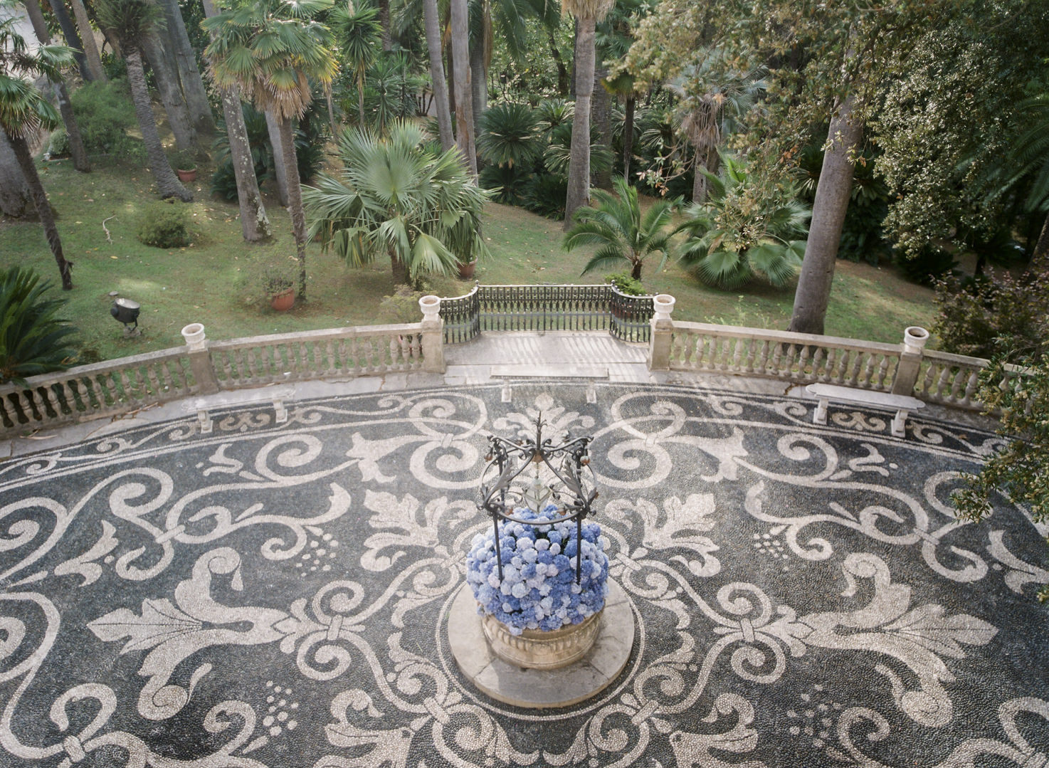 Mosaic pavement in the gardens