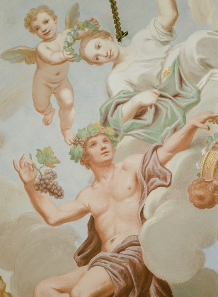 Detail of the frescoes