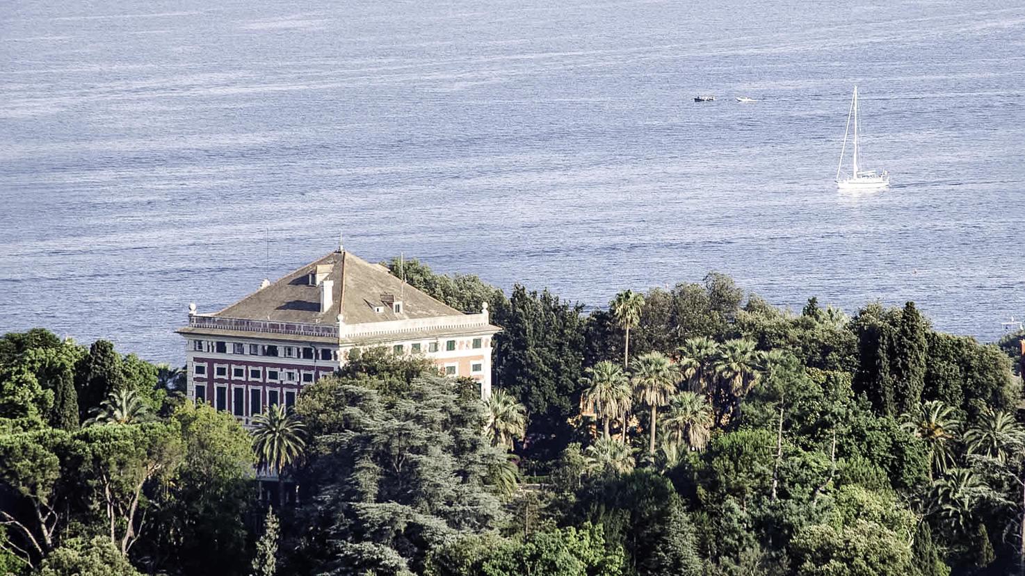 Aerial view of Villa Durazzo