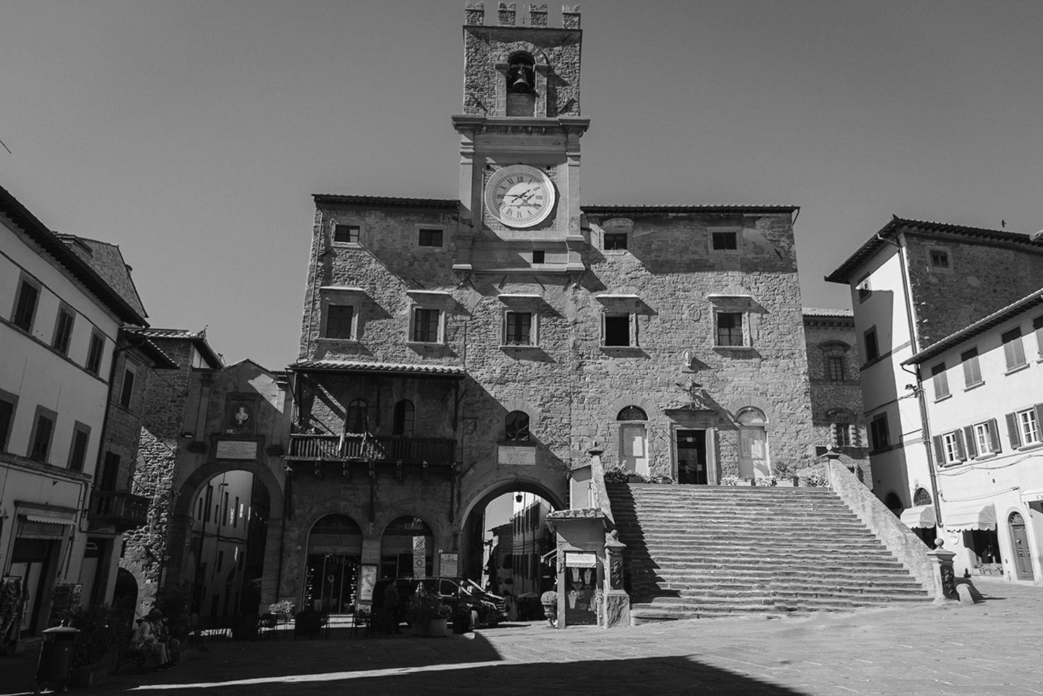 Medieval town of Cortona in Tuscany
