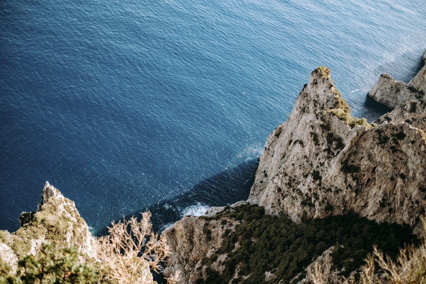 The cliffs of Capri