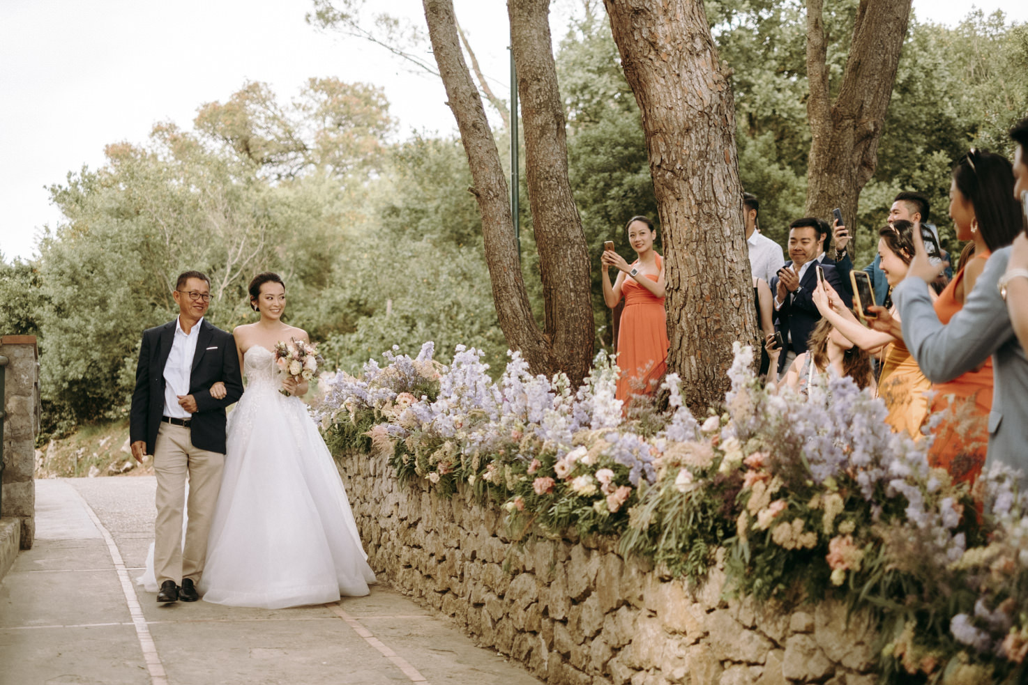 Arrival of the bride in Capri