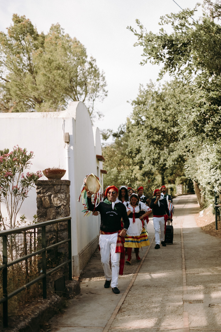 Traditional dancers of Capri