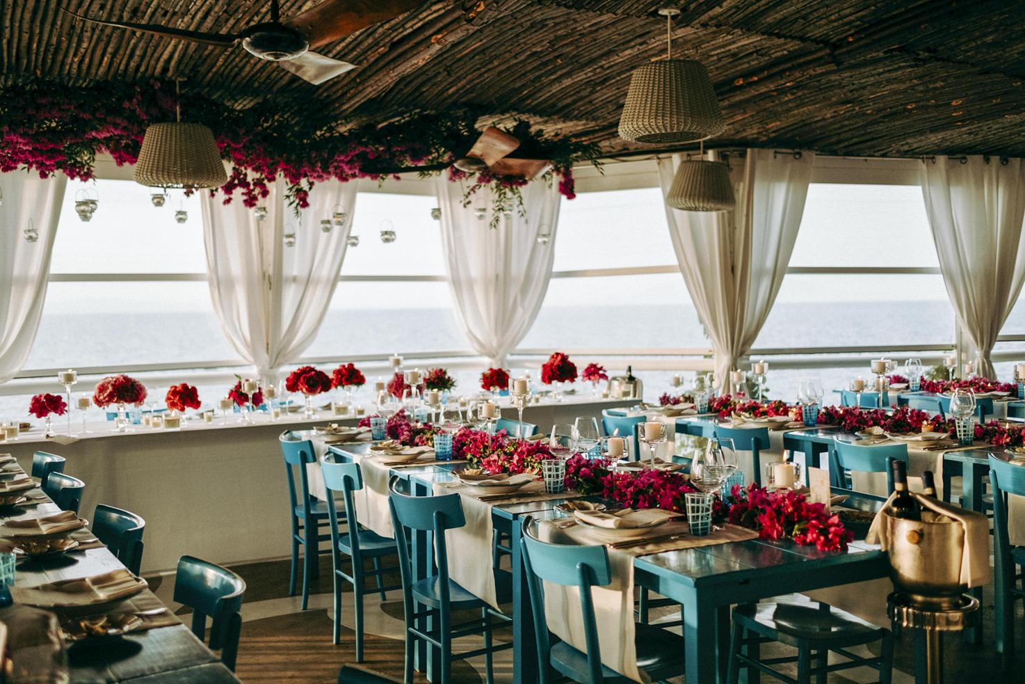 Wedding reception at Il Riccio restaurant