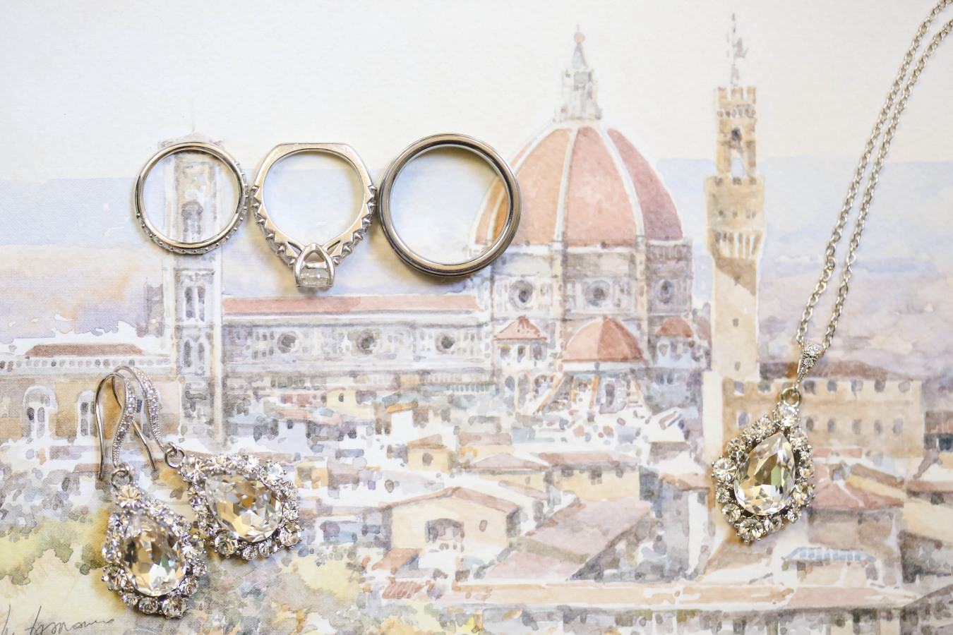Watercolor drawing of Florence