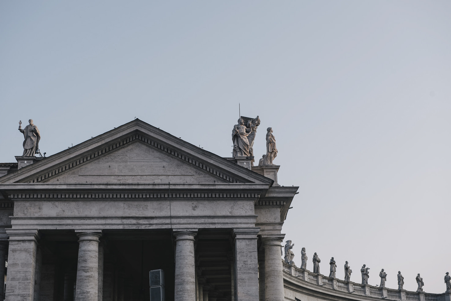 Detail of St. Peter's Square, Rome