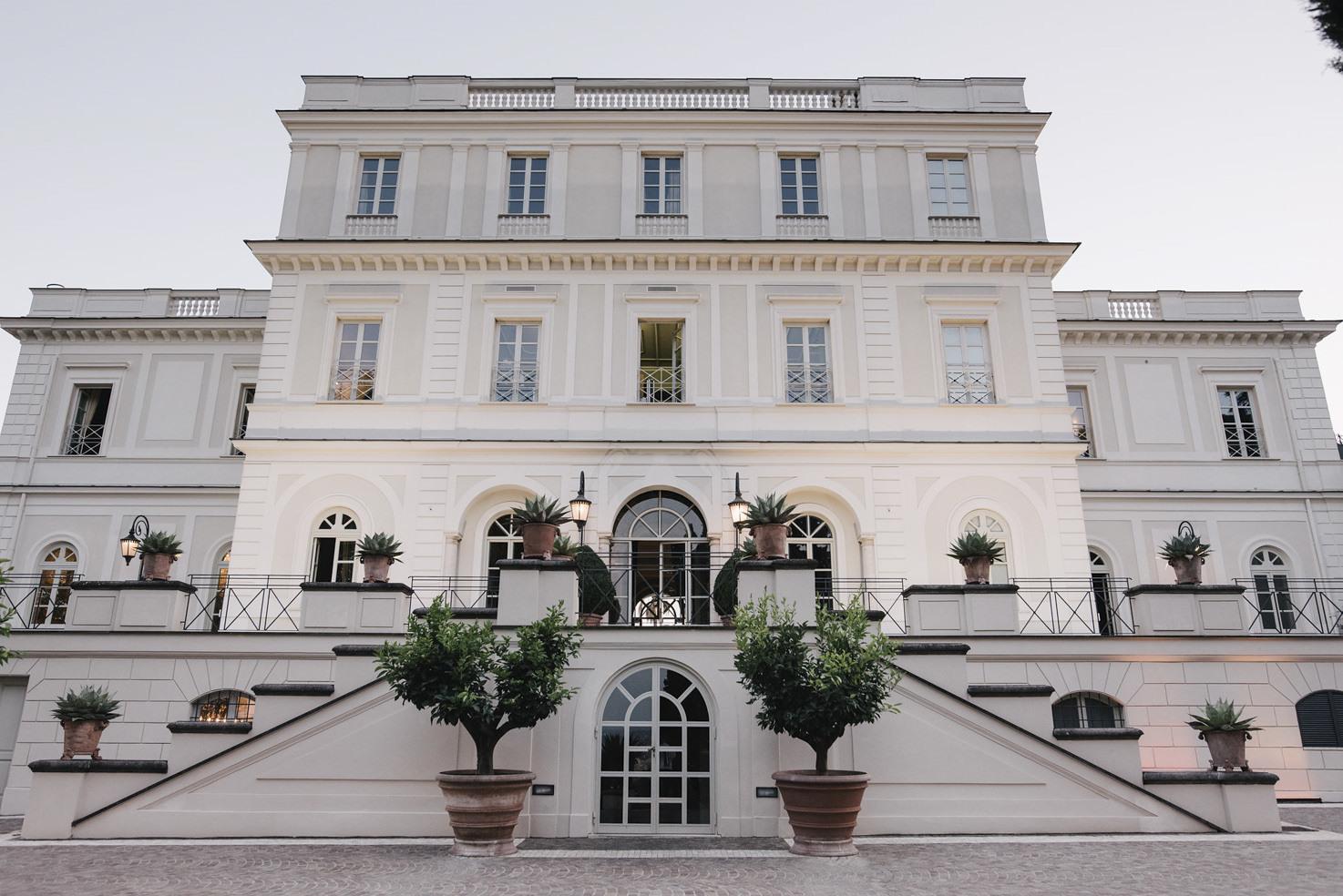 Façade of Villa Miani, Rome