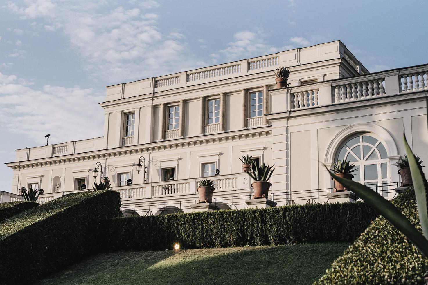 Façade of Villa Miani in Rome