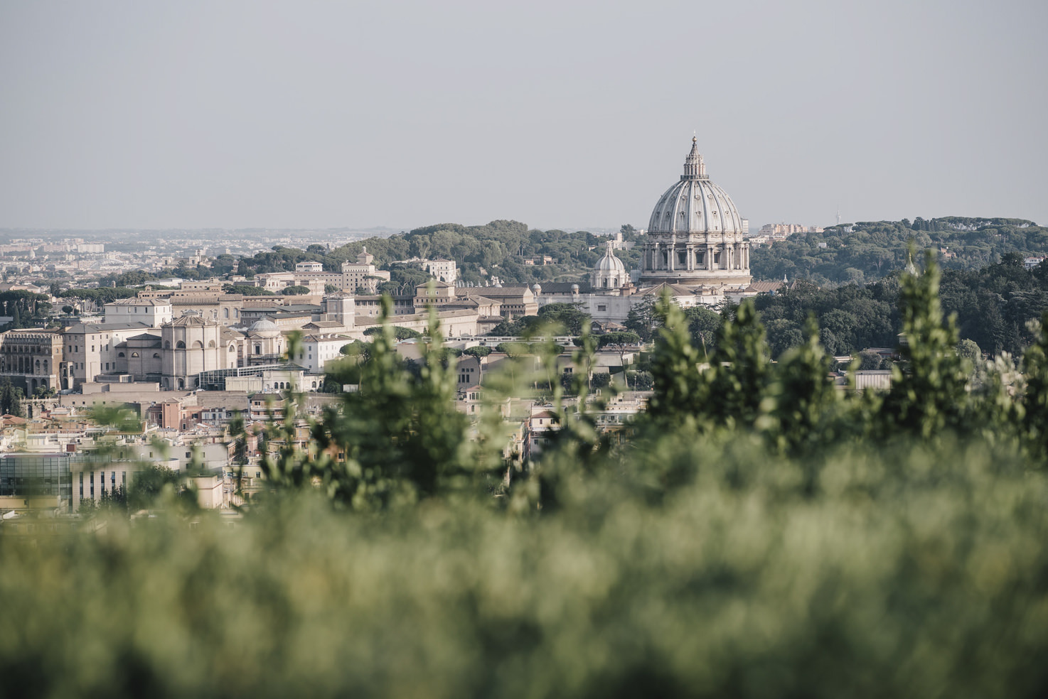 Panoramic view of the city of Rome from Villa Miani