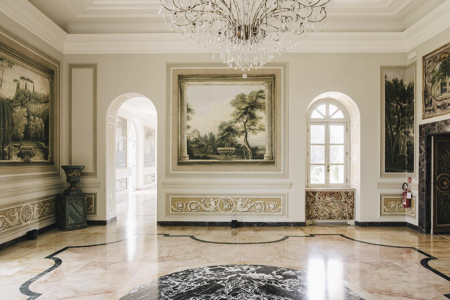 Interior of Villa Miani