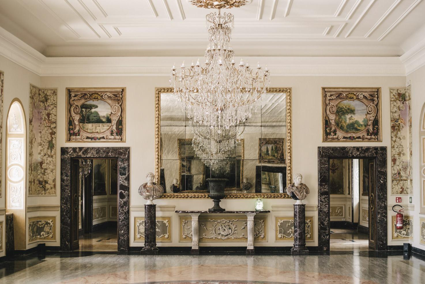 Decorated Hall at Villa Miani