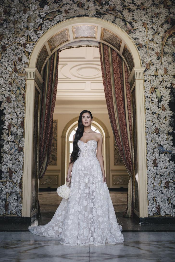 Portrait of the bride at Villa Miani