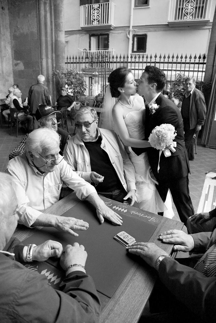 Bridal couple in Sorrento