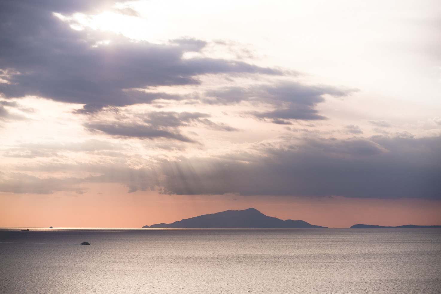 View of Mt. Vesuvius from Sorrento