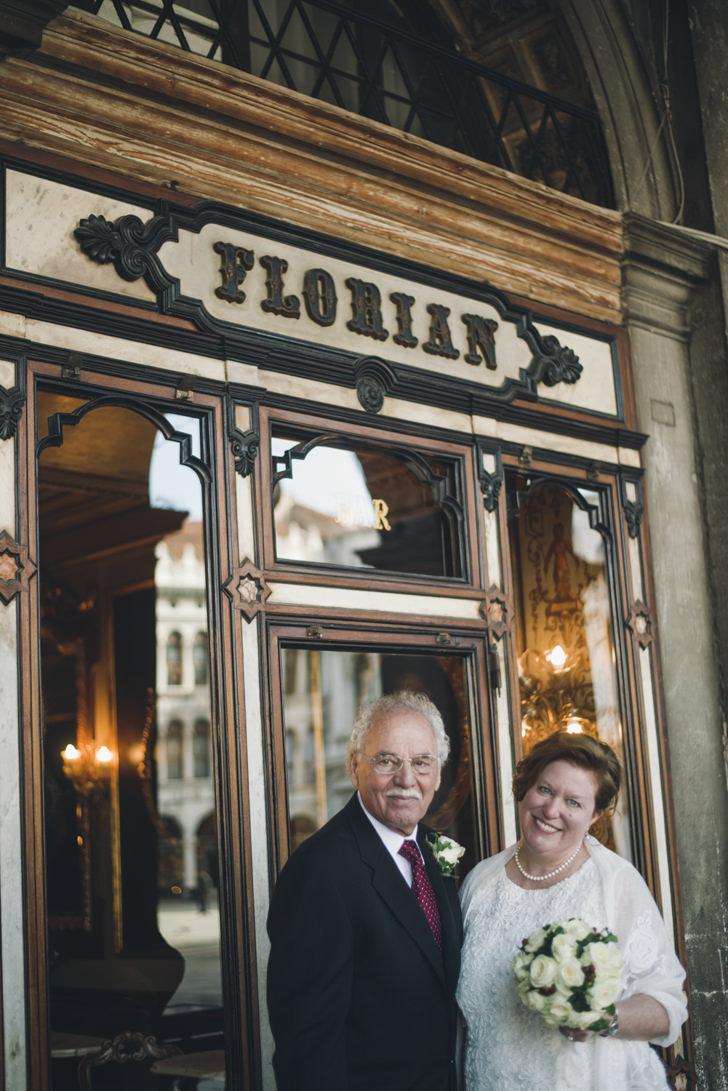 Bride and Groom at Caffè Florian