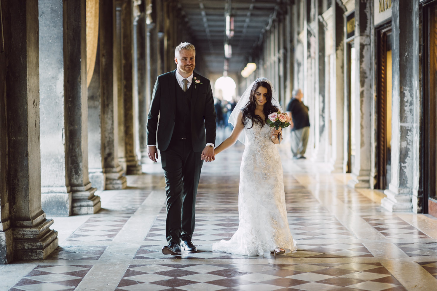 Bridal couple in St. Mark's Square