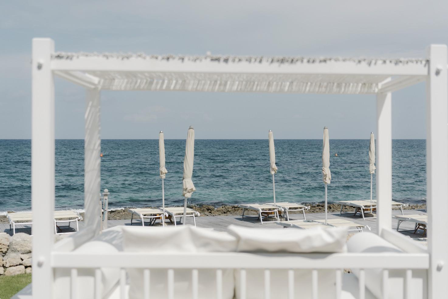 Beach club in Puglia