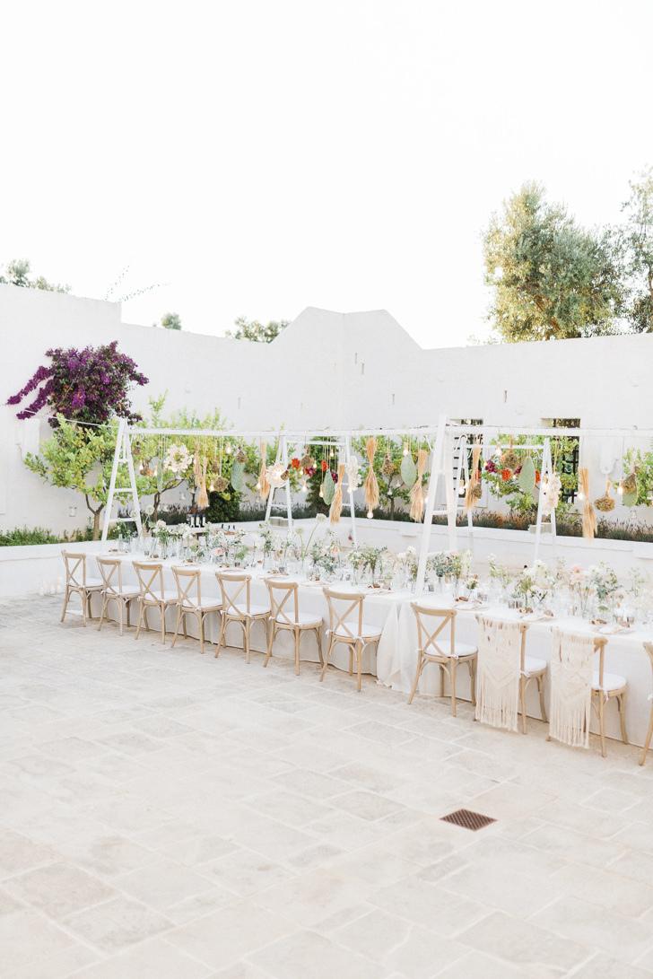 Wedding reception in a Masseria