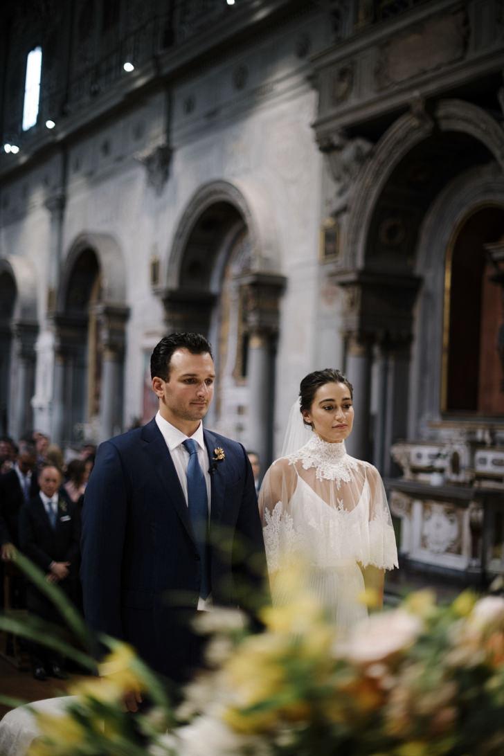 Catholic ceremony at Ognissanti, Florence